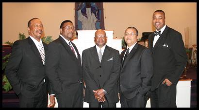 (L to R) James Hardaway, Bill Perry, Ray Wilkes, David Brooks, David Perry Jr.