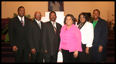 (L to R) Bill Perry, Ray Wilkes, U.L. Cross, Karen Hunter, Rosie Cross, Tabetha Berry